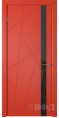 Дверь Владимирская фабрика дверей 'Флитта' Красная эмаль 26ДОО7 Лакобель черное