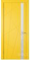 Дверь Владимирская фабрика дверей 'Флитта' Желтая эмаль 26ДОО8 Лакобель белое