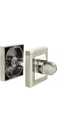 Завертка сантехническая RUCETTI RAP WC-S SN/CP Цвет - Белый никель/полированный хром снаружи