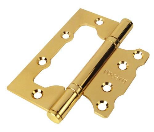 Петля дверная RUCETTI без врезки RFH-100*75*2,5 PG Цвет - Золото