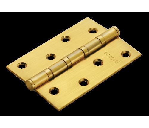 Петля стальная RUCETTI универсальная RS 100X70X2.5-4BB SG Цвет - Матовое золото