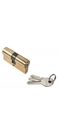 Ключевой цилиндр RUCETTI ключ/ключ (60 мм) R60C PG Цвет - Золото снаружи