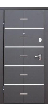 СЕЙФ-ДВЕРЬ MODENA DOOR «ALTA TECH» Черный муар/Белый Ясень внутри