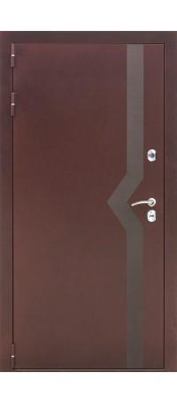 СЕЙФ-ДВЕРЬ MODENA DOOR «ISOTERMA» 10 см. Медный антик/Беленый дуб внутри