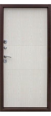 СЕЙФ-ДВЕРЬ MODENA DOOR «ISOTERMA» 10 см. Медный антик/Беленый дуб снаружи