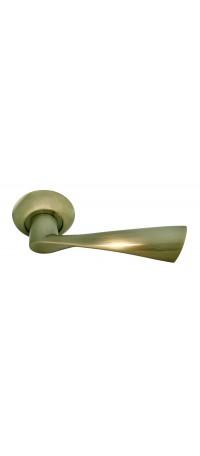 Дверные ручки RUCETTI RAP 1 AB Цвет - Античная бронза снаружи