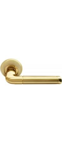 Дверные ручки RUCETTI RAP 2 SG/GP Цвет - Матовое золото/золото снаружи