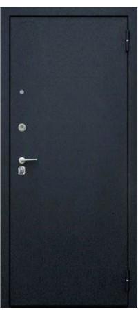 СЕЙФ-ДВЕРЬ «ДА-33/1 ФРИЗА ДУБ РУСТИКАЛЬНЫЙ» (Черный шелк) внутри