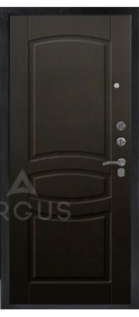 СЕЙФ-ДВЕРЬ АРГУС «ДА-34/1 МОНАКО ВЕНГЕ» (Черный шелк) снаружи