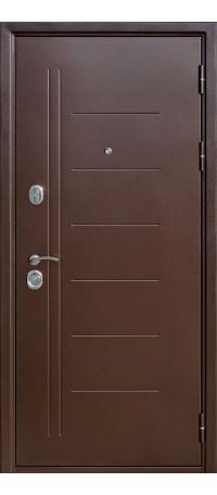 СЕЙФ-ДВЕРЬ MODENA DOOR «ТРОЯ» 10 мм.Медный Антик/Белый ясень внутри