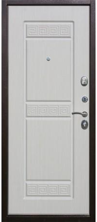 СЕЙФ-ДВЕРЬ MODENA DOOR «ТРОЯ» 10 мм.Медный Антик/Белый ясень снаружи