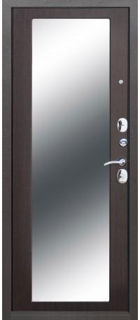 СЕЙФ-ДВЕРЬ MODENA DOOR «ТРОЯ» MAXI ЗЕРКАЛО 10 мм. Серебро антик/Зеркало Венге снаружи