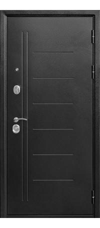 СЕЙФ-ДВЕРЬ MODENA DOOR «ТРОЯ» MAXI ЗЕРКАЛО 10 мм. Серебро антик/Зеркало Дуб санома внутри