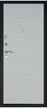 СЕЙФ-ДВЕРЬ MODENA DOOR «ТЕПЛО ЛЮКС» Беленый дуб снаружи