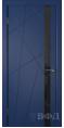 Дверь Владимирская фабрика дверей 'Флитта' Синяя эмаль 26ДОО9 Лакобель черное