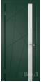 Дверь Владимирская фабрика дверей 'Флитта' Зеленая эмаль 26ДОО10 Лакобель белое
