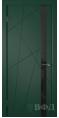 Дверь Владимирская фабрика дверей 'Флитта' Зеленая эмаль 26ДОО10 Лакобель черное
