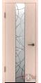Дверь Владимирская фабрика дверей 'ТОКИО' Беленый дуб 16ДО5 Зеркало 1 серебро