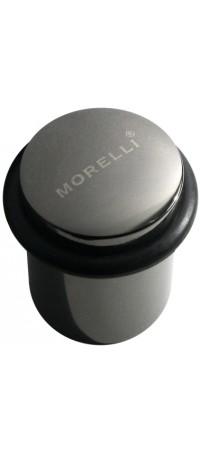 Упор дверной напольный MORELLI, DS3 BN, Цвет - Черный Никель снаружи