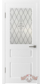 Дверь Владимирская фабрика дверей 'ЧЕСТЕР' 15ДО0, белая эмаль (стекло №2)