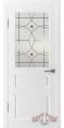 Дверь Владимирская фабрика дверей 'ЧЕСТЕР' 15ДО0, белая эмаль (стекло №3)