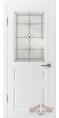 Дверь Владимирская фабрика дверей 'ЧЕСТЕР' 15ДО0, белая эмаль (стекло №5)