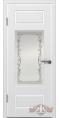 Дверь Владимирская фабрика дверей 'БАРСЕЛОНА' 22ДО0, белая эмаль (стекло №2)