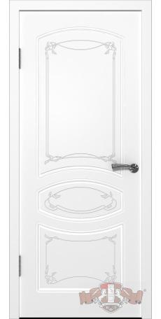 Дверь Владимирская фабрика дверей 'ВЕРСАЛЬ' 13ДГ0, белая эмаль снаружи