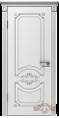 Дверь Владимирская фабрика дверей 'МИЛАНА' 42ДГ0, белая эмаль/патина серебро