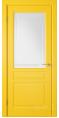 Дверь Владимирская фабрика дверей 'Стокгольм' Желтая эмаль 56ДОО8 с гравировкой