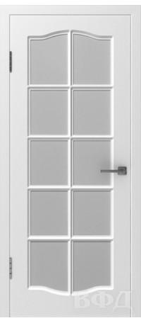 Дверь Владимирская фабрика дверей 'Прованс 1' Белая эмаль 46ДО0 снаружи