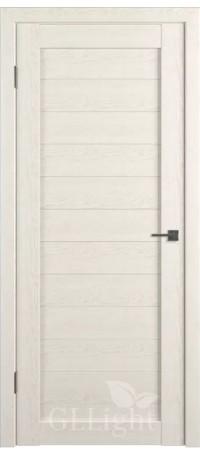 Дверь ВФД GL Light 6 Дуб латте (ДГ) снаружи
