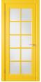 Дверь Владимирская фабрика дверей 'Гланта' Желтая эмаль 57ДГО8 Сатинат матовое