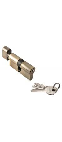 Ключевой цилиндр RUCETTI с поворотной ручкой (60 мм) R60CK AB Цвет - Античная бронза снаружи