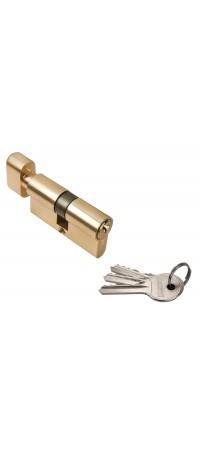 Ключевой цилиндр RUCETTI с поворотной ручкой (60 мм) R60CK PG Цвет - Золото снаружи