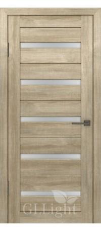 Дверь ВФД GL Light 7 Дуб мокко/Сатинат матовое (ДО) снаружи