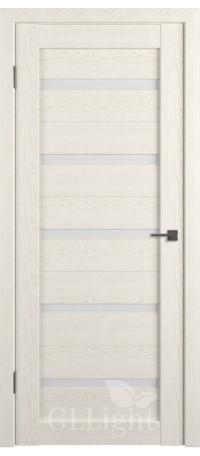 Дверь ВФД GL Light 7 Дуб латте/Сатинат матовое (ДО) снаружи