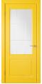 Дверь Владимирская фабрика дверей 'Доррен' Желтая эмаль 58ДОО8 с гравировкой