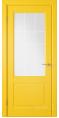 Дверь Владимирская фабрика дверей 'Доррен' Желтая эмаль 58ДОО8 сатинат с печатью
