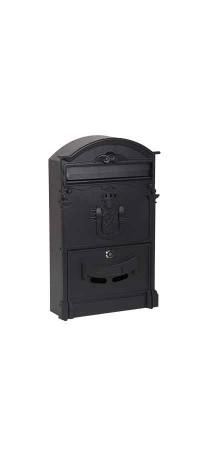 Почтовый ящик К-31091Ф-1 Черный снаружи