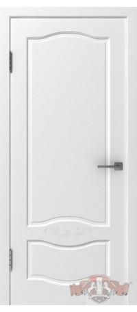 Дверь Владимирская фабрика дверей 'Прованс 2' Белая эмаль 47ДГ0 снаружи