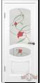 Дверь Владимирская фабрика дверей 'ВЕРСАЛЬ' 13ДР0, белая эмаль (стекло №3)