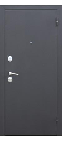СЕЙФ-ДВЕРЬ «ГАРДА» 7,5 мм. Черный муар/Дуб санома внутри